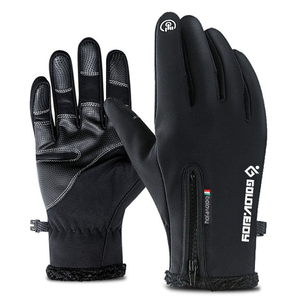 Men winter glove outdoor waterproof
