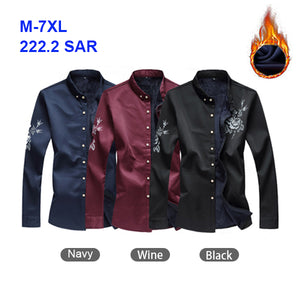 Stylish Velvet Blouse for Men - Keep Warm - Plus Size - M-7XL