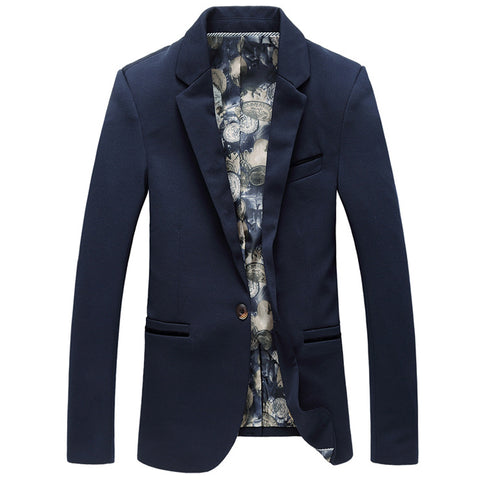 2019 new men's fashion casual long sleeve coat solid color suit coat blazers / male casual  big size suit jacket