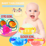 [Children's Tableware] Children's Sucker Bowl / Gyro Bowl Baby Training Bowl Non-slip Anti-drop Bowl