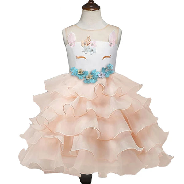 Bear Leader Unusual Kids Party Dress Children's Dress With Girl's Tulle Embroidery Ball Wearing Child's Girl Party Dress girls
