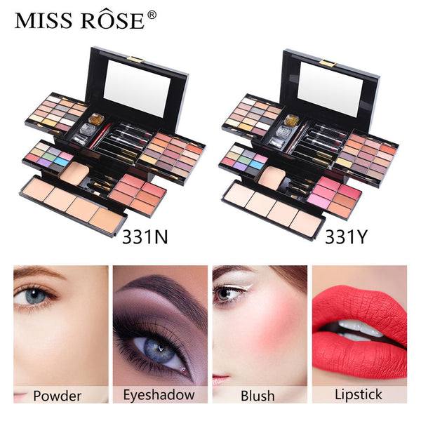 Makeup Set Eyeshadow Powder Contour Blush Lipstick Eyeliner Palette Box Set Makeup