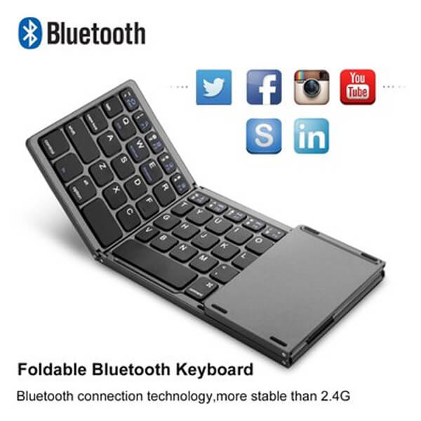 Portable Folding Bluetooth Keyboard  for IOS/Android/Windows ipad Tablet