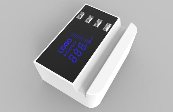 Smart 4-Port USB Charge Station Dock With Digital Display