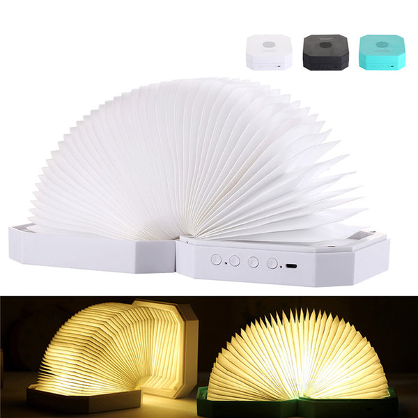 Bluetooth Speaker Book Lamp USB Rechargeable Folding LED Night Music Table Desk Lamp Organ Light Bluetooth Audio Book Lamp
