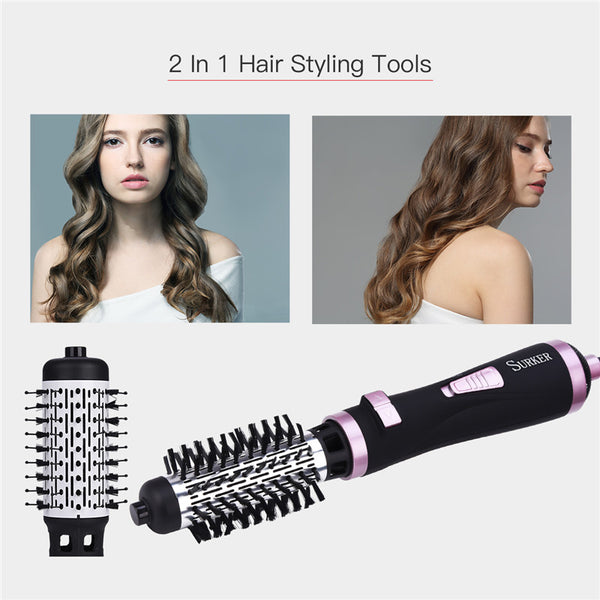 7 in 1 Ceramic Hair Dryer Rotating Curling Iron Brush