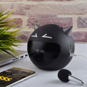 M8 Demon Clock K Song Bluetooth Speaker Portable Mini Wireless Speaker 3D Stereo Surround Bluetooth Wireless Connection
