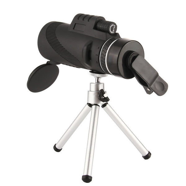 40x60 telescope + mobile phone clip + tripod