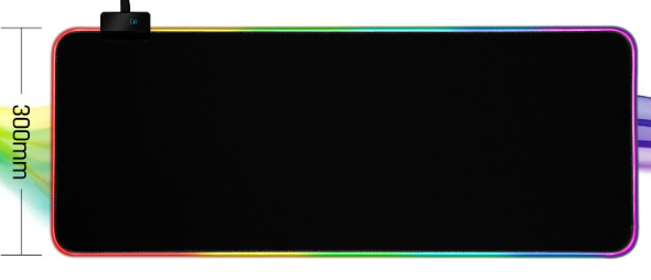 RGB Backlight Gaming Mouse Pad Water Resistant Extra Large Computer Mousepad With 7 lighting colors