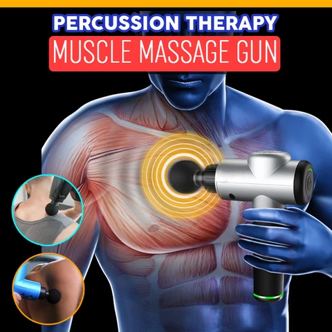(50% OFF)Electronic Body Massage Gun Therapy Body Massager Deep Muscle Massage Device Muscle Massage Relaxation Products