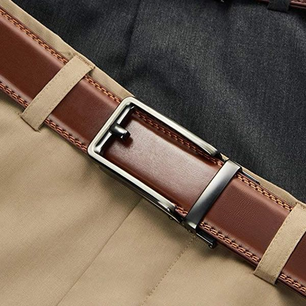 Men Belt-Leather Ratchet Belt for Men Dress