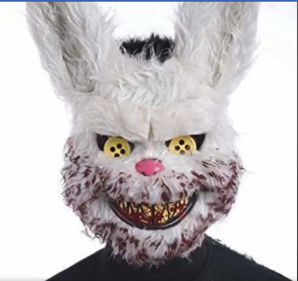 Evil Bloody Rabbit Mask Bloody Plush Bear Mask Halloween Horror Masks Masquerade Party Cosplay Masque Easter Props Tricky Mask