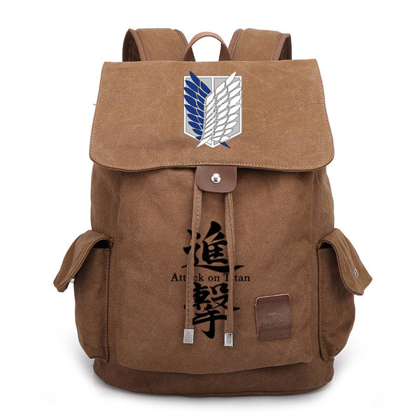 Anime Backpack Student Bag Attack on Titan Bag Peripheral Wings of Liberty