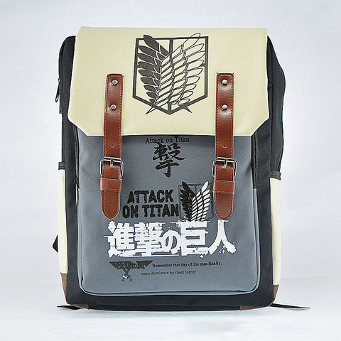 Attack on Titan Investigation Team Shoulders Casual Backpack Computer Bag Student Fashion Backpack