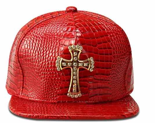 (Buy 1 Get 1 FREE) Faux Leather Baseball Caps Gold Dollar $ Logo With Bling Hiphop Gorras Snapback Hat Adjustable Fashion Cool Casquette For Unisex