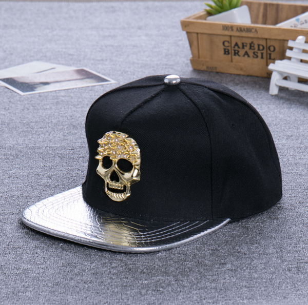 (Buy 1 Get 1 FREE) Fashion Baseball Cap for Women and Men Skeleton Street Dance Hats Male Hip-hop Skull Baseball Caps Boys Punk Hat Gorros