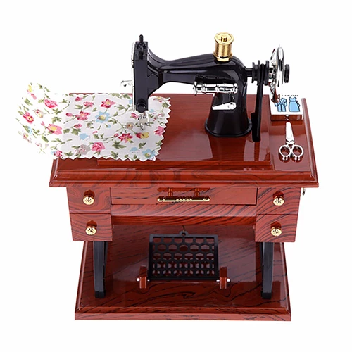 Mini Sewing Machine Music Box