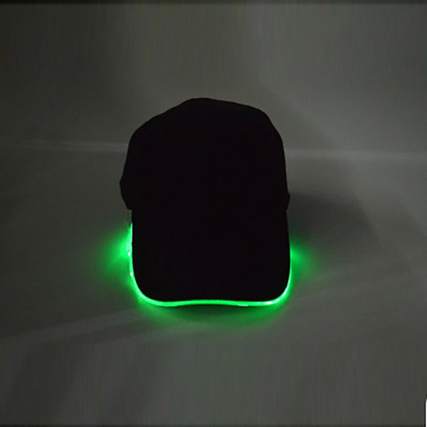LED Baseball Cap Luminous Fiber Peak Cap Stage Performance Luminous Cap Hat