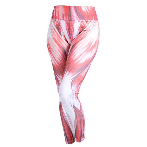 Four-needle six-line muscle print sexy yoga sports leggings