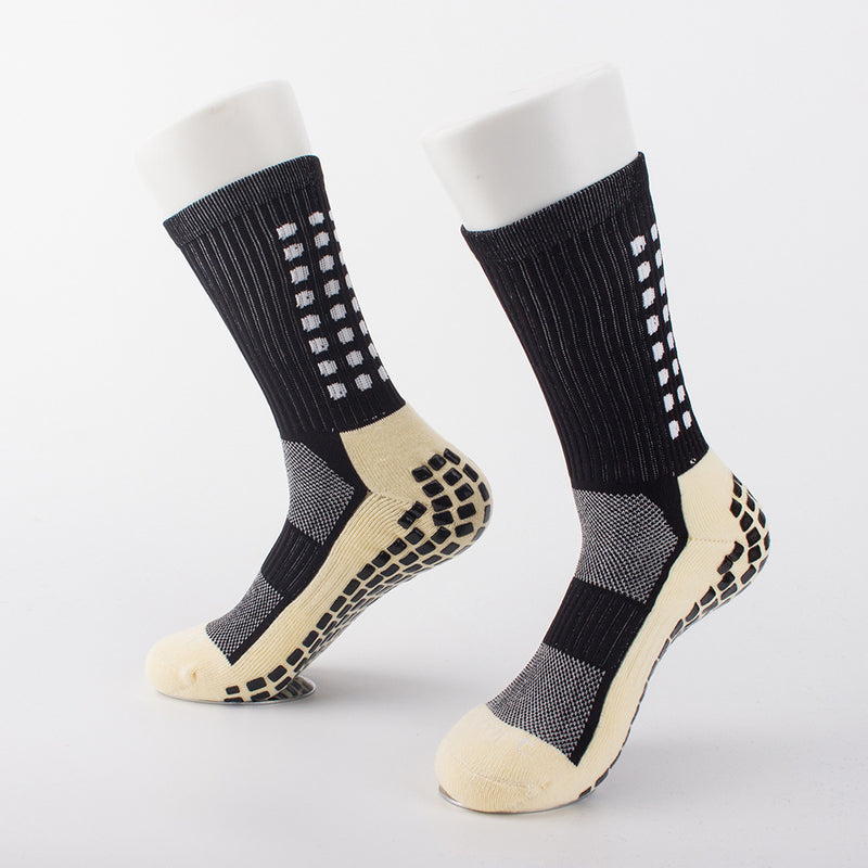 Anti-Slip Breathable Men Summer Running Cotton and Rubber Socks Football Socks High Quality Men ZA Men Women Cycling Socks