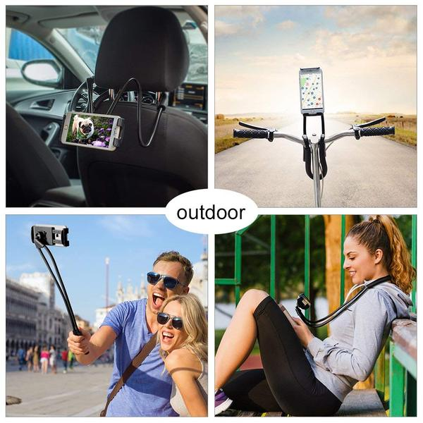 Lazy Bracket Phone Holder  - Universal Hanging on Neck Lazy Phone Holder DIY Free Rotating Stand on Table Smart Multiple Functions Mobile Phone Mount Stand