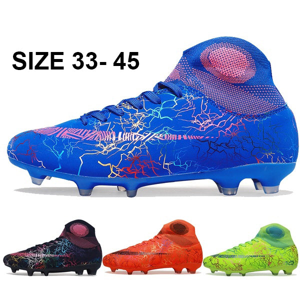 Men/Kids Breathable and Waterproof Football Boots Inside Soccer Cleats Adult Soccer Shoes Futsal Shoes