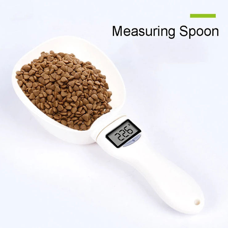 Smartpet Electronic Pet Measuring Spoon Cup Precise Food Scale Scoop with Led Display Measuring Precise Food Capacity