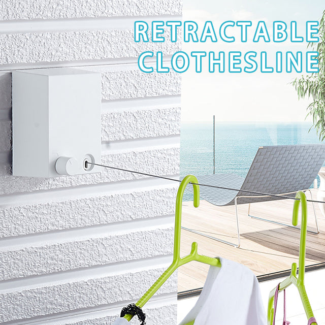 【BUY 2 GET 1 FREE】Retractable Indoor Clothes Wall Hanger Magic Drying Rack Balcony Bathroom Invisible Clothesline Hogard