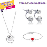 Necklace, Earrings, Bracelet Three Piece Set,50% OFF