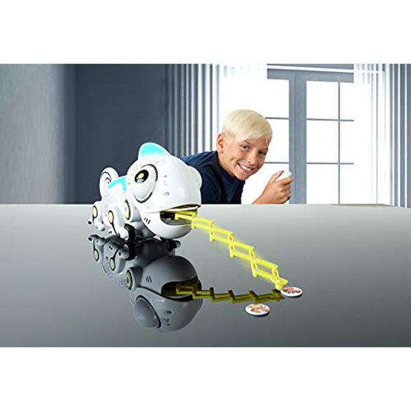 Smart Chameleon Robotic Toy - Electronic Pet with Remote Control - Bug Catching Action & Extendable Tongue