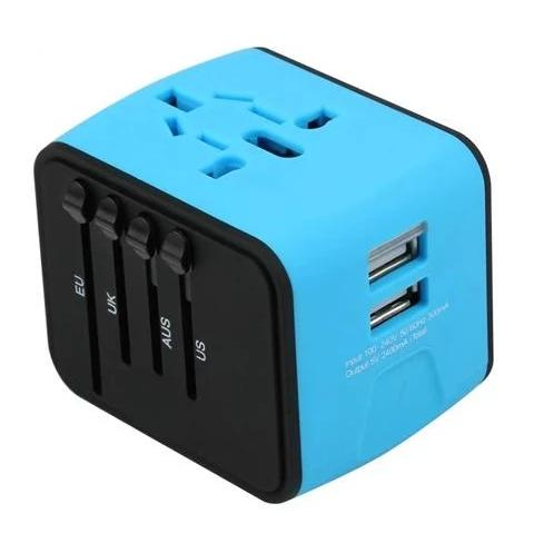4-Port USB & Type-C Adapter for Travelers - Go To 200 Countries With Only One Adapter