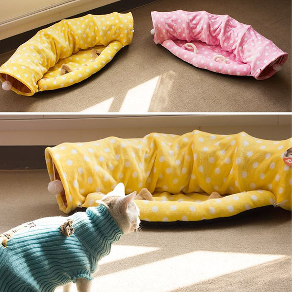 Sofa-style cat litter two-in-one cat channel sleeping bag foldable cat litter