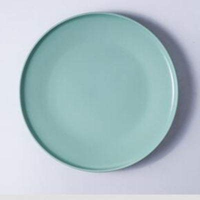 Creative Matt color Ceramic Plate Pasta Plate Tray Western Plate Flat Plate Tableware Nor