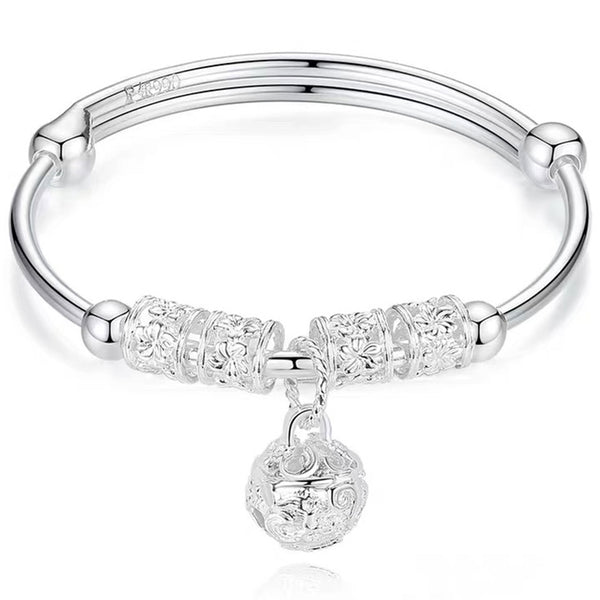 Genuine S990 Pure Silver Dream Catcher Bracelet,Elegant Gift for Women