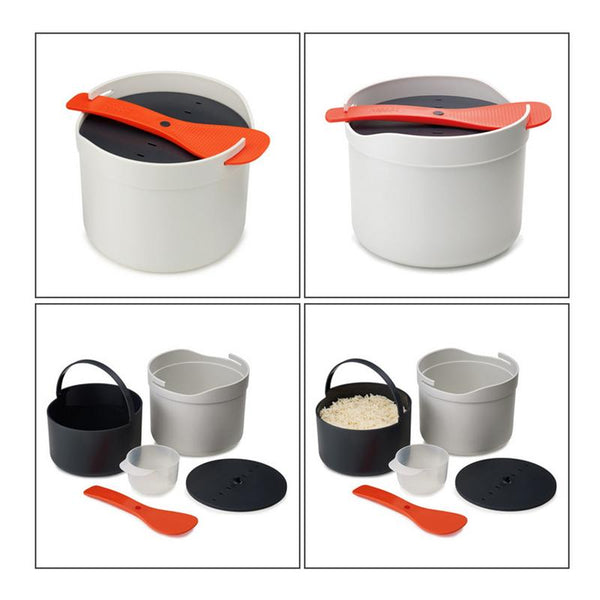 Microwave Oven Steamer Meal food Rice Cooker Grain Cereal for Bowl Plates Cookware Kitchen Gadgets Accessories Supplies