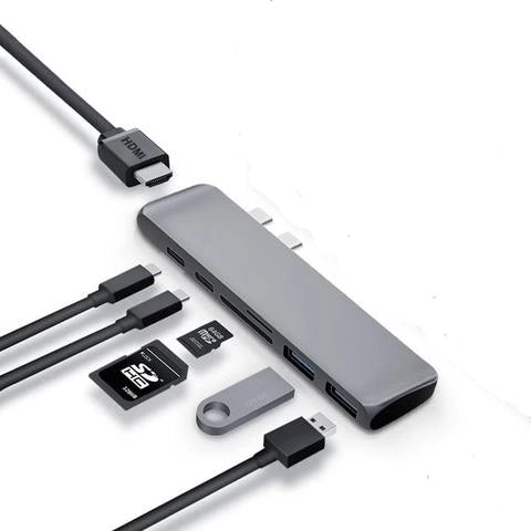 [محول كمبيوتر 7 في 1] MACBOOK PRO USB TYPE-C HUB TO HDMI ADAPTER