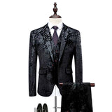 Jacket+Pant+Vest Men Suit Fashion 2018 Autumn New Business Casual Dress Suits Men's Clothing Formal Wear Groom Prom Tuxedo M-6XL