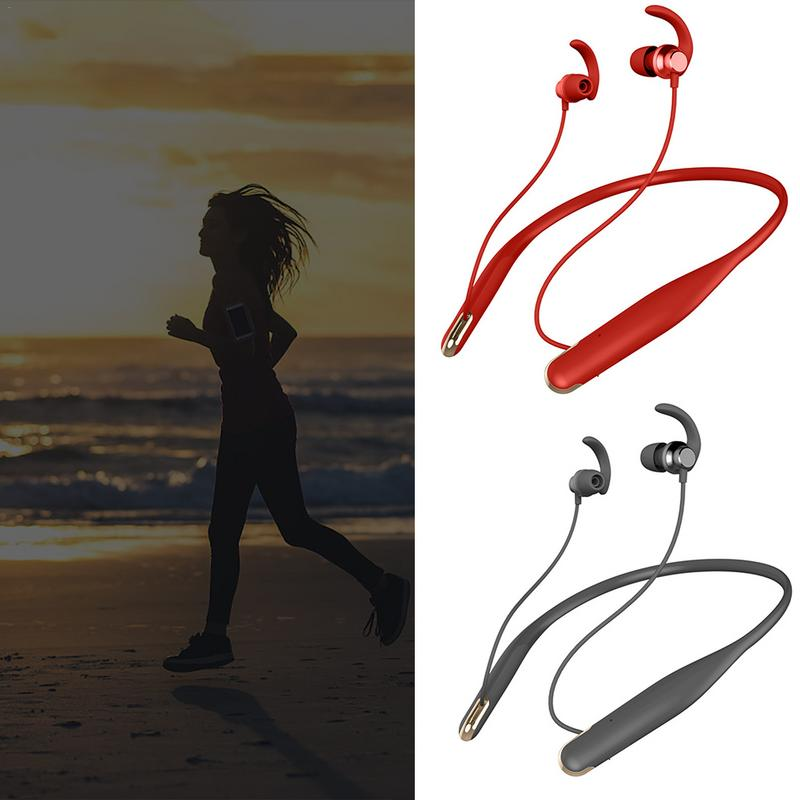 Sport Magnetic Behind The Neck Hanging Neck Type In-Ear Wireless Bluetooth Headset Running Waterproof Bluetooth Earplug