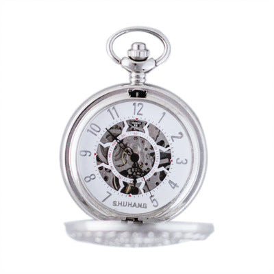 Stainless Steel Men Fashion Casual Pocket Watch Fob Chain Watches