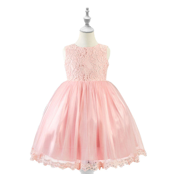 Bear Leader Party Dress 2019 High End Girls Dress Big Bow Birthday Party Dresses Children Princess Ball Gown Kids Wedding Dress