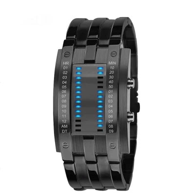 Fashion Creative LED Display 50M Waterproof Men Watches