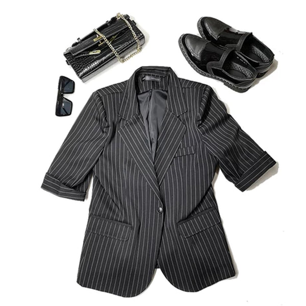 Stage Clothing Men Short Sleeve Business Casual Suits Sets (jacket+pant) Male Streetwear Fashion Hip Hop Slim Fit Blazer Jacket