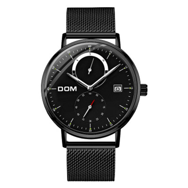 DOM Customized Your Own Brand Watch Luxury Brand Fashion Nylon Strap Causal Quartz Men Watches High Quality Waterproof Watch