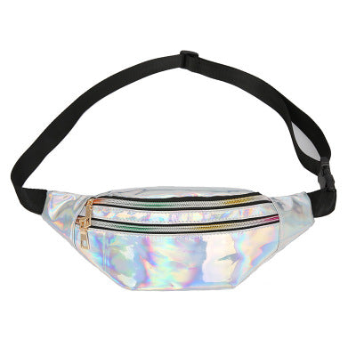 2018 Holographic Women Fanny Pack Belt Bag Shiny Neon Laser Hologram Waist Bags Travel Shoulder Bag Party Rave Hip Bum Bag