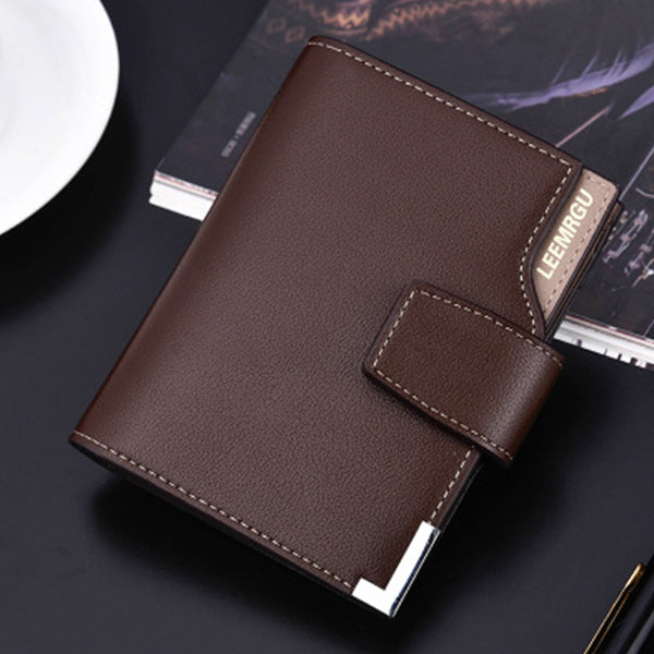 Multi-function Folding Personality Leather Men Wallets