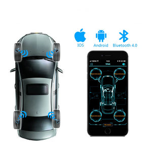Tire Pressure Car Monitoring Bluetooth - 4.0 4 Internal / External Sensor for Android iOS Available