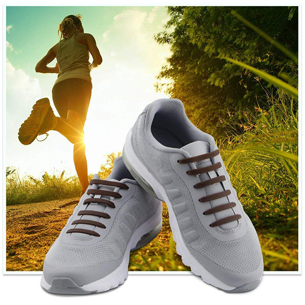 No Tie Shoelaces for Kids and Adults - Waterproof Silicone Flat Elastic Athletic Running Shoe Laces
