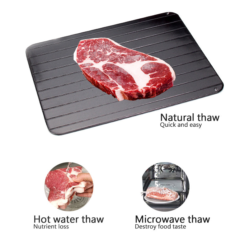 Kitchen Fast Defrost Plate Aluminum Square Defrost Tray Meat Defrost Tray Beef Pork Seafood Defrost Tool
