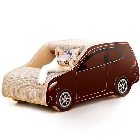 Cat litter SUV car shaped corrugated paper scratch board claws toy pet supplies to send grass