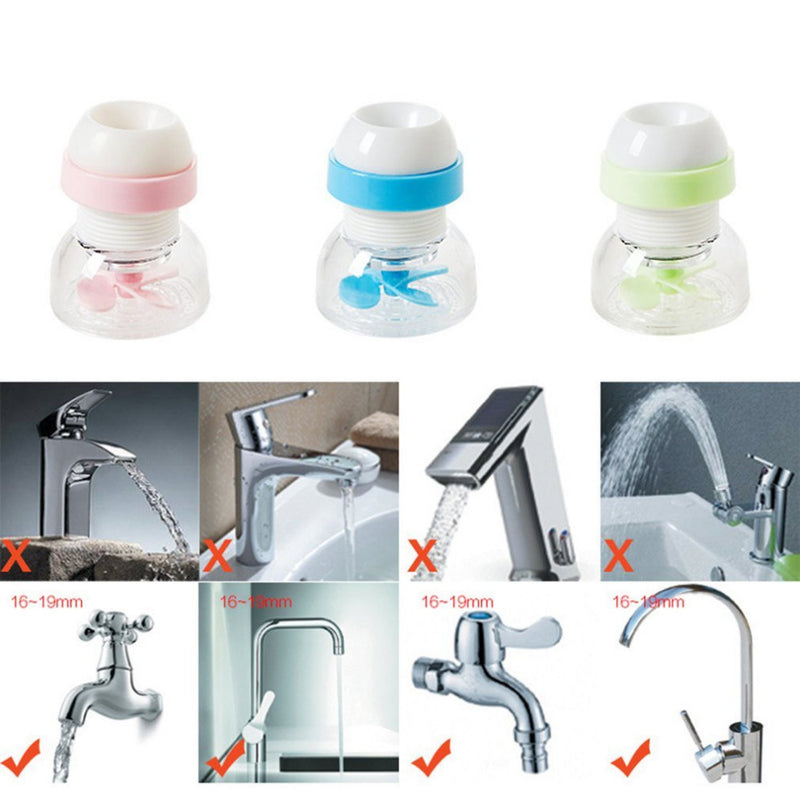 Kitchen faucet splash shower water tap water spray water saving device 360 rotating water filter